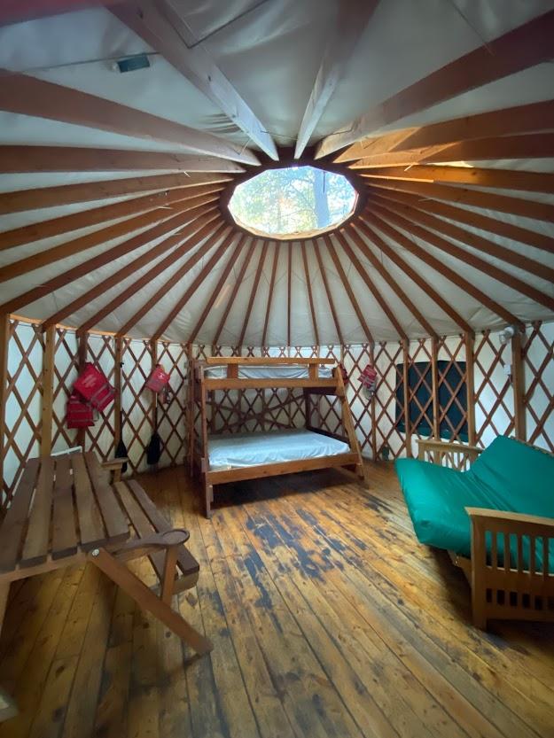 Winchester Lake State Park yurt interior