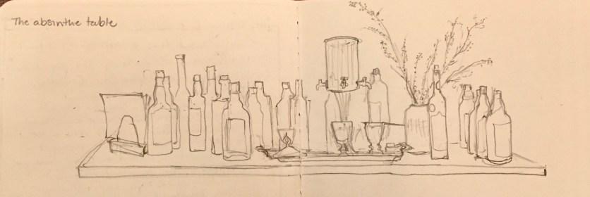 The absinthe table, Hotel de France, Vaud