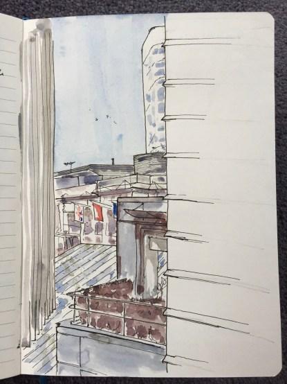 From an office window