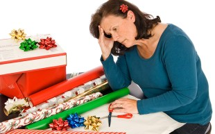 Woman with Christmas Fatigue