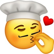 Chef emoji kissing fingers