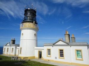 Lighthouse at Sumburgh Head. Shetland Isles.