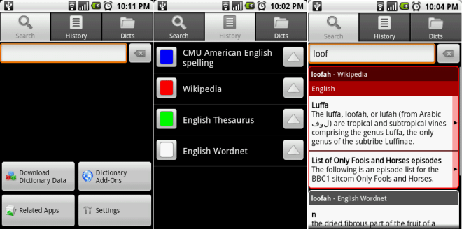 ColorDict dictionary app for Android