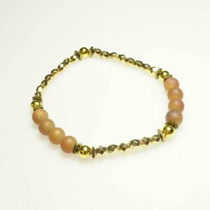 Peach Druzy Stacker Bracelet