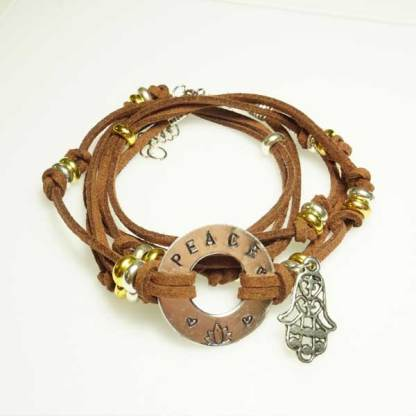 Metal Stamp Wrap Bracelet