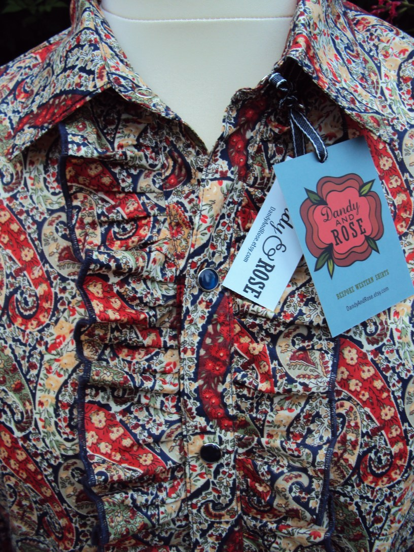 Man's ruffled shirt in Liberty of London's classic paisley 'Bourton'