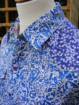 Reed's mixed print shirt in Liberty's 'Lagos Laurel', 'Mitsi'