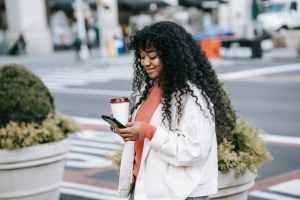 Happy christian single woman