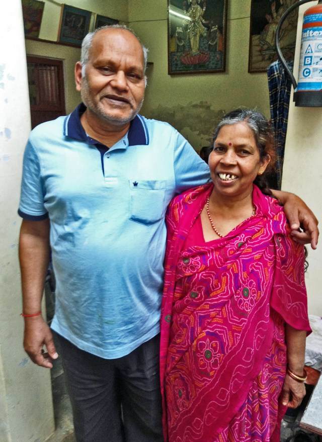 Dr Jain and wife, Saroj
