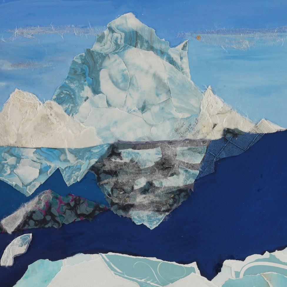 Artic Ice Cap Flows to Ocean ©2017 J Brugos