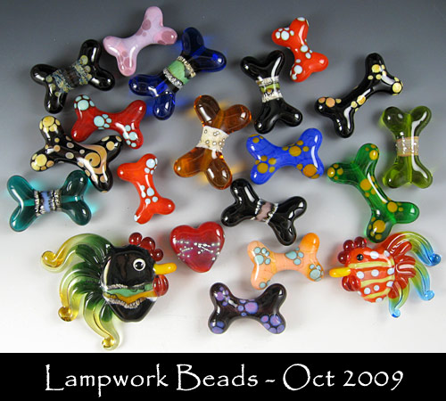 October 2009 Beads - Firefly Lampwork Janet Crosby