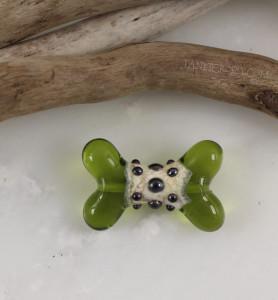 Knobby Bone - Glass Lampwork Bead