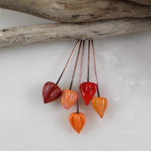 Summer Seed Pods - Handmade Glass Headpins