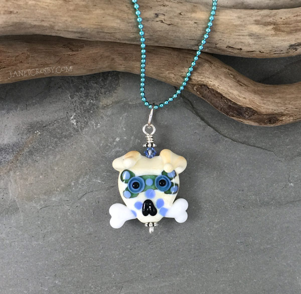 Sugar Skull Dog Necklace