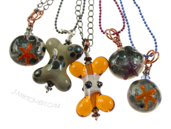 Tide Pool Pendants and Bones