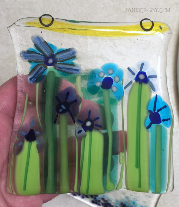 First Fused Glass Flowers