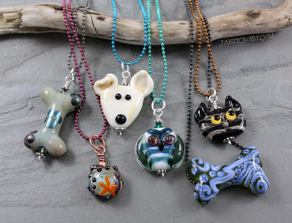 Lampwork Necklaces by Janet Crosby