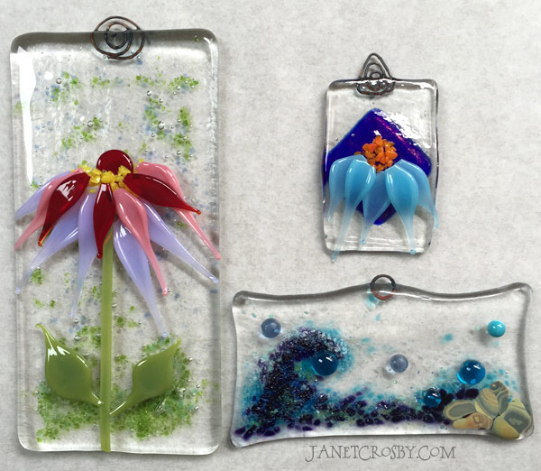 First Fused Glass Pieces