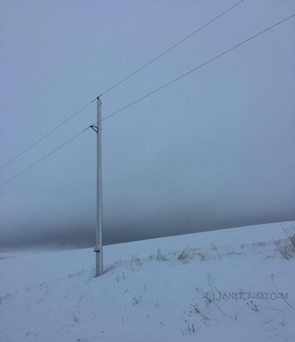 Snow Road - Power Pole