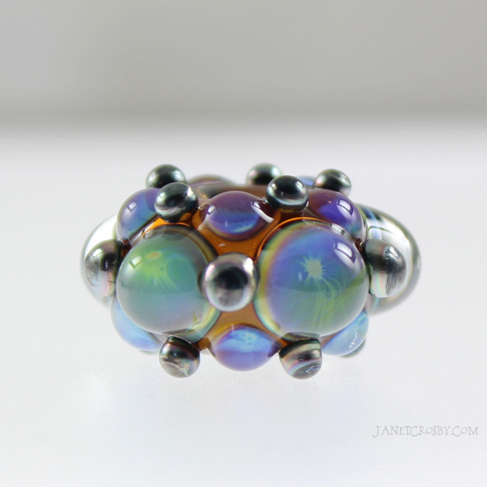 Silver Dot Bead Close Up - www.janetcrosby.com