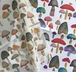 Spoonflower Shrooms - Janet Crosby