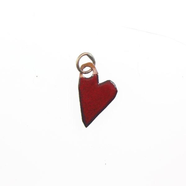 Red Enamel Heart - Janet Crosby