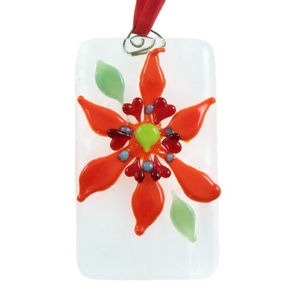 Many Hearts Flower Suncatcher by Janet Crosby