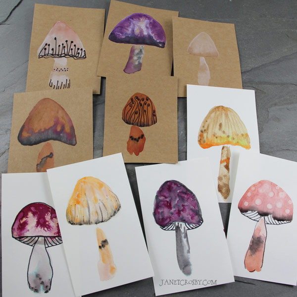 Mini Watercolor Cards #6 by Janet Crosby