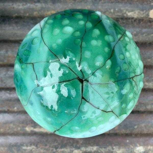 Cracked Raindrops Mushroom by Janet Crosby