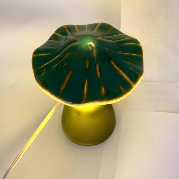 Mushroom Lamp - Green Ruffle
