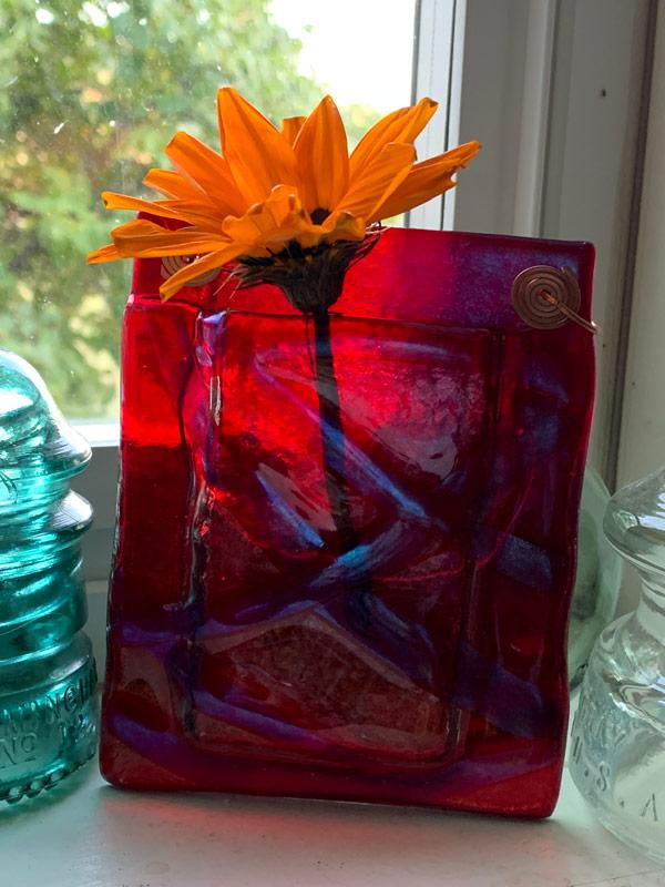 Pocket Vase - Basketweave by Janet Crosby