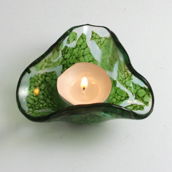 Tealight - Maidenhair by Janet Crosby