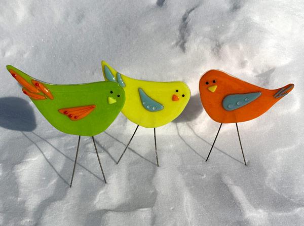 Mini Flock - Garden Birds by Janet Crosby