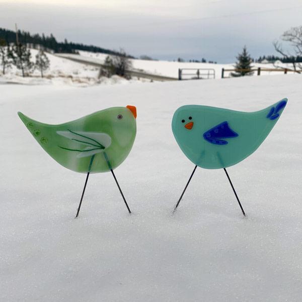 Snow Garden Birds - Janet Crosby