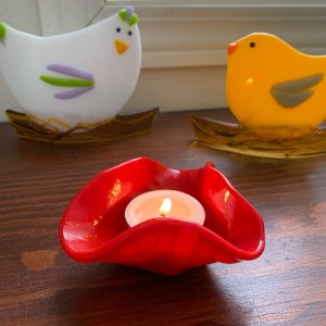 Tealight -- Red Shimmer