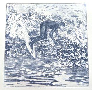 Surfer 3 Artist's Proof (ultramarine & velvet black)