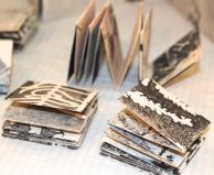 Stef Mitchell's monoprinted folded books.