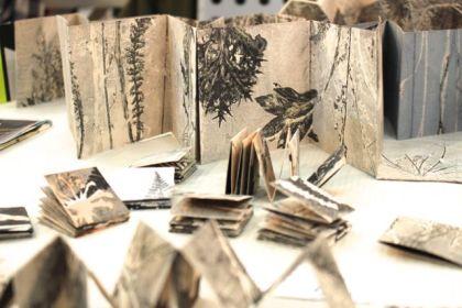 Stef Mitchell's monoprinted books.
