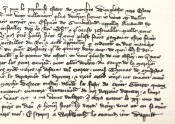Detail of 14th century letter by Henry, Earl of Northumberland.