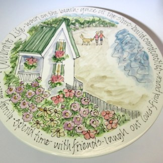 Celebration Pottery Jan Francoeur Cake Plate