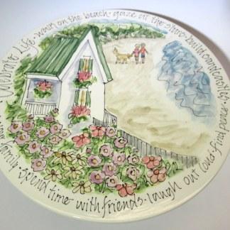 Celebration Pottery Jan Francoeur Cake Plate