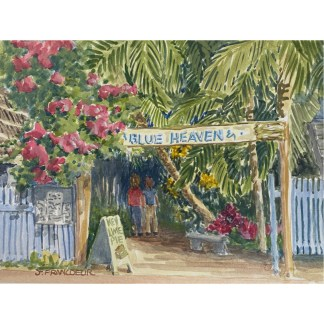 Painting of Blue Heaven Key West by New Bern artist Jan Francoeur