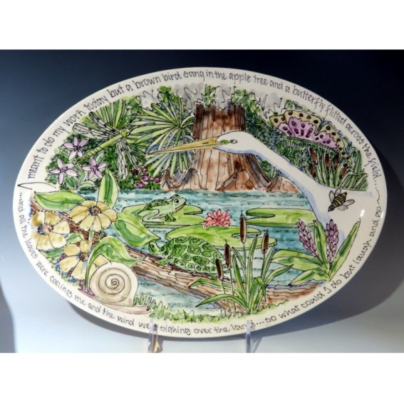 Celebration Pottery Jan Francoeur Nature Series with bee