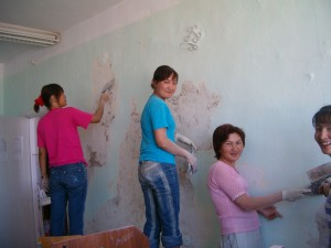 Then there was the day I walked into class to discover a few of the students painting the walls.