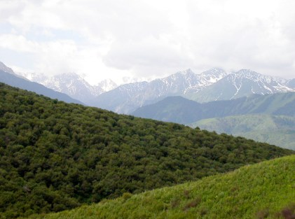 Tien Shan Mountains all around us