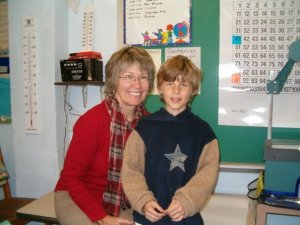 Mikah and me at his school's Grandparents' Day in 2007
