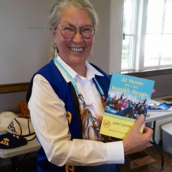 Photo, Book Release, Janet Givens, author of At Home on the Kazakh Steppe