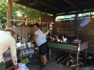 Here is Inez in her outdoor kitchen.