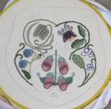 The 'foxglove side' of the Bride's Bag, partly finished