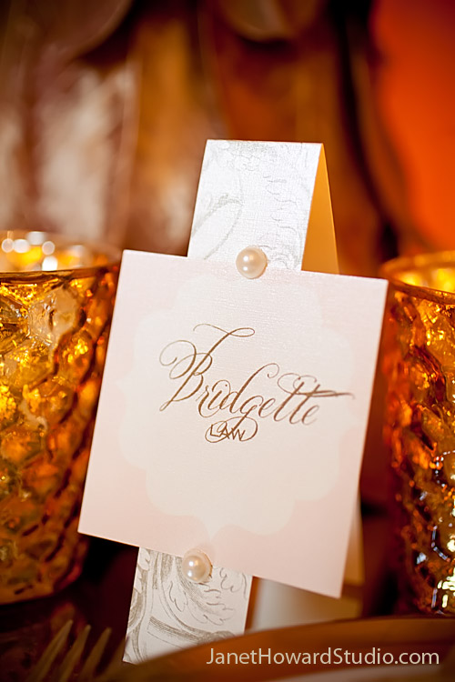 Great Gatsby Wedding Inspiration | placecard
